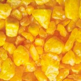Грунты для аквариумов и террариумов - Уют Грунт натурал Мрам.крошка желт сред 5-10 мм, 0,5 кг., 0