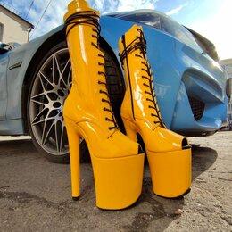 Обувь для спорта - Стрипы ботильоны тройки желтые 36-39, 0
