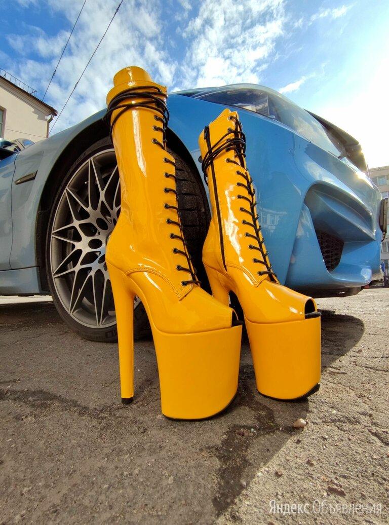 Стрипы ботильоны тройки желтые 36-39 по цене 8700₽ - Обувь для спорта, фото 0