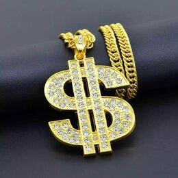 Кулоны и подвески - Знак доллара кулон на цепочке новый, 0