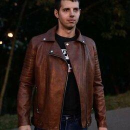Куртки - Куртка мужская кожаная, 0