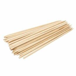 Принадлежности для салонов красоты - Палочка для маникюра деревянная одноразовая 100 шт, 0
