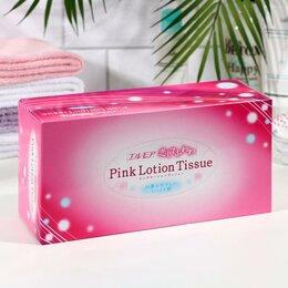 Бумажные салфетки, носовые платки - Бумажные розовые двухслойные салфетки, Kami Shodji, с коэнз. Q10 180шт, 0