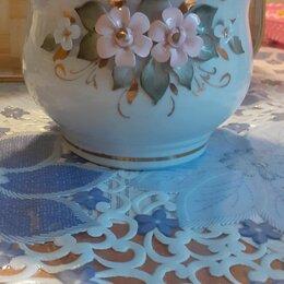 Вазы - Кисловодский фарфор вазы с лепными цветами, 0