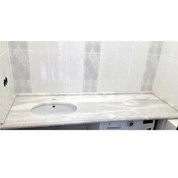 Полки, шкафчики, этажерки - Каменная столешница в ваннуюю под мрамор, 0