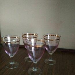 Бокалы и стаканы - Набор розовых фужеров для крепких напитков, 100 мл, 4 шт., 0