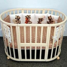 Кроватки - Кроватка круглая трансформер Mika Bonni 7 в 1, 0