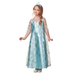 Карнавальные и театральные костюмы - Карнавальный костюм «Эльза», сатин 2, платье, корона, р. 38, рост 146 см, 0