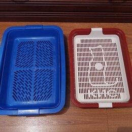 Туалеты и аксессуары  - Лоток со вставкой решёткой для кошки или котенка. Новый., 0