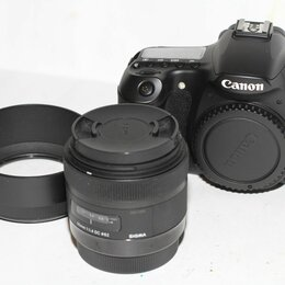 Фотоаппараты - Canon 60D + Sigma 30 mm 1.4 Art, 0