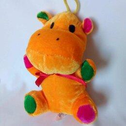 Мягкие игрушки - Мягкая игрушка - оранжевый бегемотик, 0
