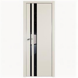 Межкомнатные двери - Межкомнатные двери Profil Doors 16E Магнолия Сатинат Стекло Lacobel Черный ла..., 0