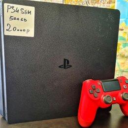 Игровые приставки - PlayStation 4 Slim 500Gb б.у, 0