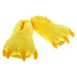 Кигуруми - Тапочки кигуруми (тапки-лапы), детские, размер универсальный, желтый, 0