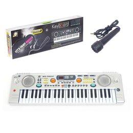 Детские музыкальные инструменты - Синтезатор «Музыкальный взрыв» c радио и USB, 49 клавиш, работает от сети и о..., 0