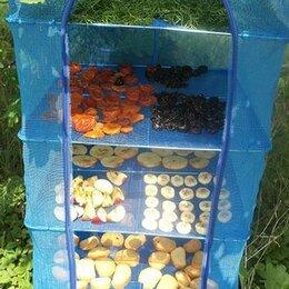 Сушилки для овощей, фруктов, грибов - Сетка сушилка большая 50Х50Х95 5 полок складная для рыбы и фруктов, 0