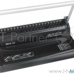 Брошюровщики - Переплетчик Gladwork Ibind A8 A4/перф.8л.сшив./макс.145л./пластик.пруж. (6-16мм), 0