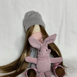 Куклы и пупсы - Кукла текстильная интерьерная кукла, 0