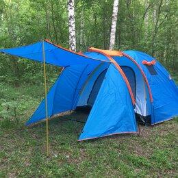 Палатки - Палатка 4 места. Увеличенный тамбур. •Модель LY - 8605 (1605)., 0