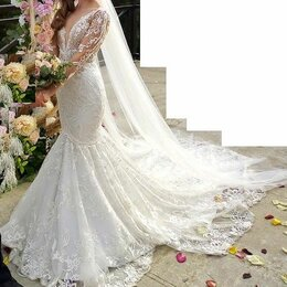 Платья - Самое красивое свадебное платье русалка, 0
