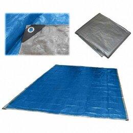 Тенты строительные - Тент брезент хозяйственный универсальный Ecos 3х4м, 60г/м2 с люверсами, 0