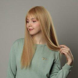 Аксессуары для волос - Queen fair Парик искусственный, с чёлкой, имитация кожи, 60 см, цвет блонд, 0