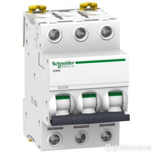 Автоматический выключатель Schneider ACTI9 iC60N 3П 10а B A9F78310 по цене 2462₽ - Электрические щиты и комплектующие, фото 0