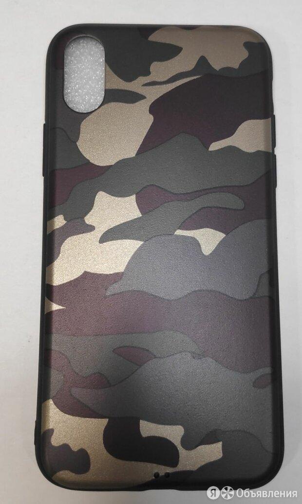 ЧЕХОЛ ДЛЯ iPhone X  КРЫШКА SILICON КАМУФЛЯЖ по цене 150₽ - Защитные пленки и стекла, фото 0