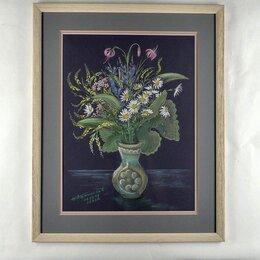 """Картины, постеры, гобелены, панно - Живопись, Борис Афанасьев, """"Букет"""", пастель., 0"""