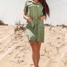 Платья - Платье рубашка 44 размер , 0