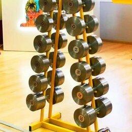 Аксессуары для силовых тренировок - Гантельный ряд, гантели 138 кг. Произв-во и др.вес, 0
