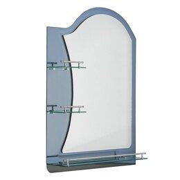 Зеркала - Зеркало в ванную комнату двухслойное Ассоona A623, 80×60 см, 3 полки, цвет сталь, 0