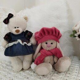 Мягкие игрушки - Мягкие игрушки зайка Ми и медвежонок, 0