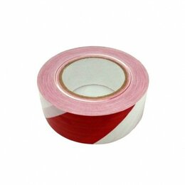 Изоляционные материалы - Лента сигнальная 50ммх200м красно-белая Момент, 0