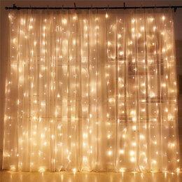 Новогодний декор и аксессуары - Гирлянды шторы , 0