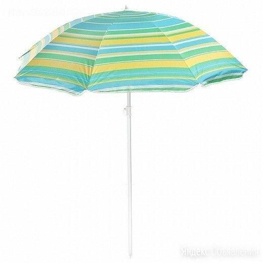 Зонт пляжный с механизмом наклона, серебряным покрытием, 180х180х295 см по цене 950₽ - Зонты от солнца, фото 0