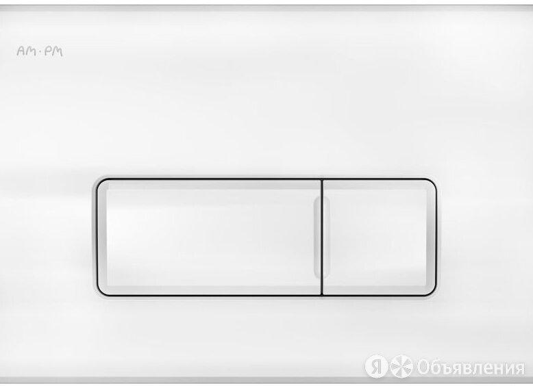 Кнопка смыва AM.PM Pro M I048001 белая глянцевая по цене 1350₽ - Готовые строения, фото 0