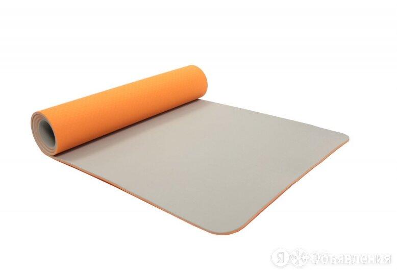 Коврик для йоги и фитнеса 183*61*0,6 TPE двухслойный оранжевый/серый BRADEX S... по цене 1590₽ - Йога, фото 0