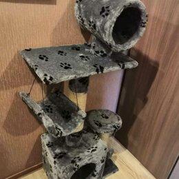 Когтеточки и комплексы  - Домик когтеточка 2 этажа с туннелем Новый, 0