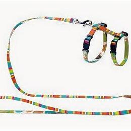 Шлейки  - HUNTER SMART шлейка для кошек и собак STRIPES нейлон разноцветная , 0
