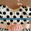 Детское нарядное праздничное платье в горошек  по цене 500₽ - Платья и сарафаны, фото 1