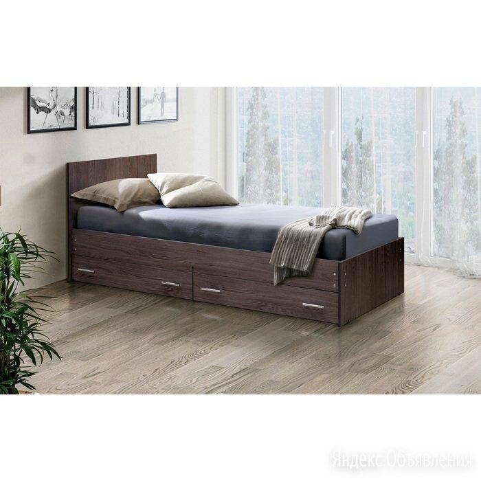 Кровать на уголках с ящиками № 4, 900 × 1900 мм, цвет ясень анкор тёмный по цене 14794₽ - Кровати, фото 0
