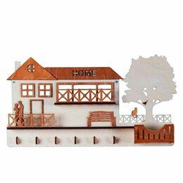 """Настенные ключницы и шкафчики - Ключница настенная """"Дом (большой) с гаражом"""" для ключей, 0"""