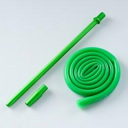 Шланги и комплекты для полива - Мундштук и шланг, шланг 120 см, внутренний d=12 мм, зеленый, 0