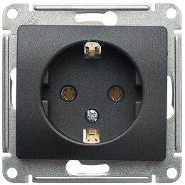 Электроустановочные изделия - Розетка Schneider electric Glossa 16А, с заземлением, антрацит, 0