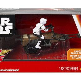 Радиоуправляемые игрушки - Игрушки звёздные войны спидэрбайк на пульте управления, 0