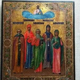 Иконы - Семейная икона богородица над святыми, 0