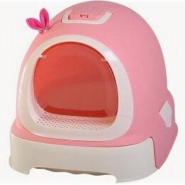 Биотуалеты - Туалет-бокс, выдвижной поддон, Фэнтези 55*42*43 розовый 1шт/уп, фильтр, совок..., 0