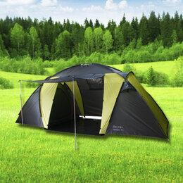 Палатки - палатка туристическая Virtey Trekker-4 местная с тамбуром и навесом 2 комнаты, 0