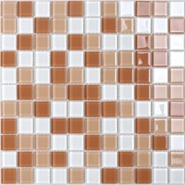 Мозаика - Мозаика Tessare 30,5х30,5х0,4см стекло бело-бежевый шт(HJM08), 0